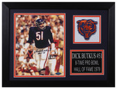 Dick Butkus Autographed & Framed 8x10 Chicago Bears Photo Tristar COA D-8A