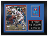 Earl Campbell Autographed & Framed 8x10 Houston Oilers Photo JSA COA D-8A