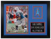 Earl Campbell Autographed & Framed 8x10 Houston Oilers Photo JSA COA D-8A1