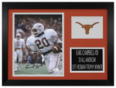 Earl Campbell Autographed & Framed 8x10 Texas Longhorns Photo JSA COA D-8A2
