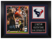 J.J. Watt Autographed & Framed 8x10 Houston Texans Photo JSA COA D-8A2