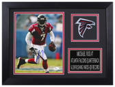 Michael Vick Autographed & Framed 8x10 Falcons Photo JSA COA D-8A