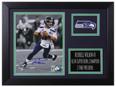 Russell Wilson Autographed & Framed 8x10 Seattle Seahawks Photo RW Holo D-8A2