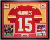 Patrick Mahomes Autographed & Framed Red Chiefs Jersey Auto JSA COA