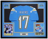 Philip Rivers Autographed & Framed Blue Chargers Jersey Auto Fanatics COA