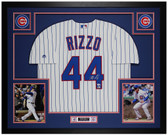 Anthony Rizzo Autographed & Framed Pinstriped Cubs Jersey Auto Fanatics COA