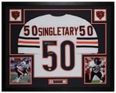Mike Singletary Autographed & Framed White Chicago Bears Jersey Auto JSA COA