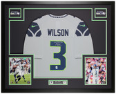 Russell Wilson Autographed & Framed Gray Seahawks Jersey Auto Wilson COA