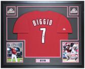 Craig Biggio Autographed & Framed Brick Brick Red Astros Jersey Tristar COA