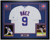 Javier Baez Autographed & Framed Pinstriped Cubs Jersey Auto Fanatics COA