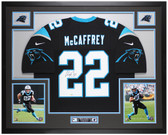 Christian McCaffrey Autographed and Framed Black Panthers Jersey Auto Fanatics COA