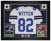 Jason Witten Autographed and Framed White Dallas Cowboys Jersey Beckett COA