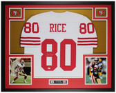 Jerry Rice Autographed & Framed White 49ers Jersey Auto Beckett COA