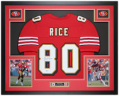 Jerry Rice Autographed & Framed Red 49ers Jersey Auto Beckett COA