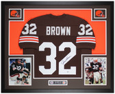 Jim Brown Autographed & Framed Cleveland Browns Jersey Auto Beckett COA