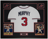 Dale Murphy Autographed & Framed White Braves Jersey Auto PSA COA