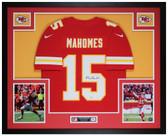 Patrick Mahomes Autographed and Framed Red Chiefs Nike Jersey Auto Fanatics COA