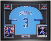 Dale Murphy Autographed & Framed Blue Braves Jersey Auto JSA COA