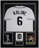 Al Kaline Autographed and Framed White Tigers Jersey Auto JSA COA