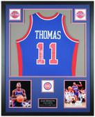 Isiah Thomas Autographed & Framed Detroit Pistons Jersey Auto Fanatics COA