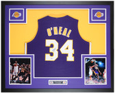 Shaquille O'Neal Autographed and Framed Purple Lakers Jersey Auto Beckett COA