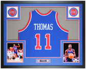 Isiah Thomas Autographed and Framed Detroit Pistons Jersey Auto Fanatics COA