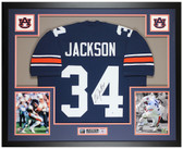 Bo Jackson Autographed and Framed Blue Auburn Jersey Beckett COA