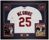 Mark McGwire Autographed & Framed White St Louis Cardinals Jersey Auto JSA COA