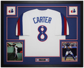 Gary Carter Autographed & Framed White Montreal Expos Jersey Auto JSA COA