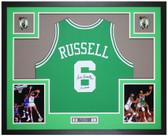 Bill Russell Autographed 11x Champs & Framed Green Celtics Jersey Auto JSA COA
