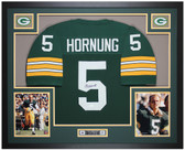 Paul Hornung Autographed & Framed Green Packers Jersey Auto JSA COA