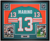 Dan Marino Autographed & Framed Teal Dolphins Jersey Auto Fanatcis COA