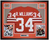 Ricky Williams Autographed & Framed Orange Texas Longhorns Jersey JSA COA