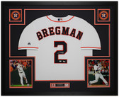 Alex Bregman Autographed and Framed White Houston Astros Jersey Fanatics COA
