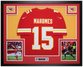 Patrick Mahomes Autographed & Framed Red Chiefs Nike Jersey Auto JSA COA