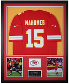 Patrick Mahomes Autographed & Framed Red Chiefs Nike Jersey Auto JSA Cert