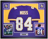 Randy Moss Autographed and Framed Purple Vikings Jersey Auto Beckett COA