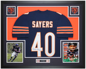 Gale Sayers Autographed & Framed Blue Chicago Bears Jersey Auto PSA COA