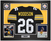 Rod Woodson Autographed & Framed Black Steelers Jersey Auto JSA COA