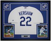 Clayton Kershaw Autographed & Framed White Dodgers Jersey PSA COA