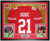 Frank Gore Autographed & Framed Red 49ers Jersey Auto PSA Cert