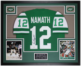 Joe Namath Autographed & Framed Green Jets Jersey Auto PSA Cert