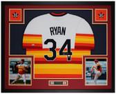 Nolan Ryan Autographed & Framed Rainbow Astros Jersey Auto AI Cert