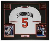 Brooks Robinson Autographed & Framed White Orioles Jersey Auto JSA Cert