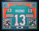 Dan Marino Autographed and Framed Teal Miami Dolphins Jersey Auto JSA COA