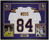 Randy Moss Autographed and Framed White Vikings Jersey Beckett COA