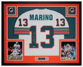 Dan Marino Autographed and Framed White Dolphins Jersey Fanatics COA