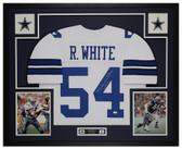 Randy White Autographed and Framed White Cowboys Jersey JSA COA