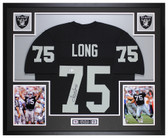 Howie Long Autographed and Framed Black Raiders Jersey Beckett COA