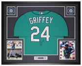 Ken Griffey Jr Autographed and Framed Teal Mariners Jersey Beckett COA